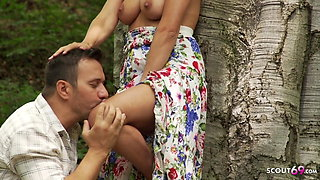 Real German Teen Couple Has Romantic Outdoor Sex on Holiday