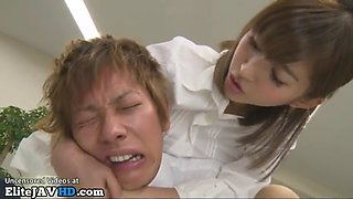 Japanese nympho office lady cant stop fucking