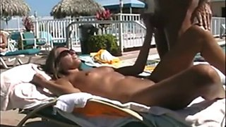 wife fucked by hotel pool with guests around