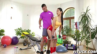 katana in hardcore sex workout for asian babe