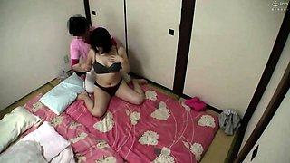 Luscious Oriental housewives sensually massaged and fucked