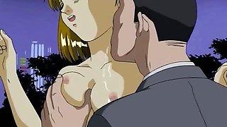 Scared hentai babe