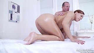 Slippery shag with nasty brunette babe Ornella Morgan