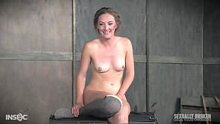 Cute mature blonde Mona Wales chained and abused with a hard cock
