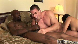 Angelina Stoligets pleased by bisexual dudes Biggz and Jim Jojo