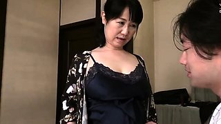 Stacked Asian granny enjoys a torrid affair with a young guy