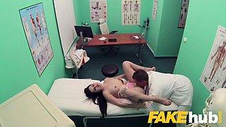 Fake Hospital Shaven Russian pussy fucked hard
