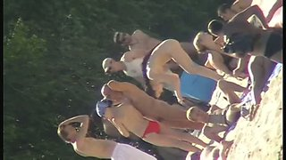 Brunette teen beach nudist clip