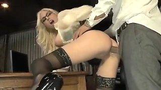 Horny homemade Blonde, Ass porn scene