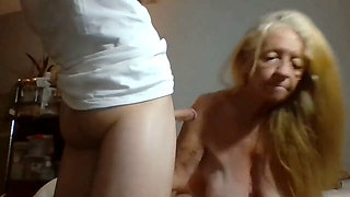 Granny gets fucked hard by young long dick (creampie)