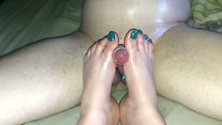 Cockplay with feet, without cum 2