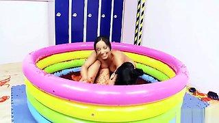 Hot Sluts Enjoy A Jelly Pool