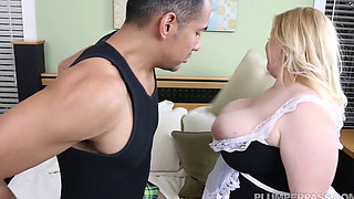 Nikky Wilder Blonde BBW Maid Enjoys Pussy And Arse Fucking