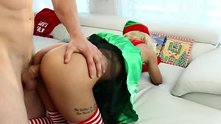 Santa's little helper is amazing when it comes to cock sucking