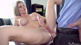A Dude Gives Anal Pleasure To Sex Mad Milf Boss To Get The Job - Cory Chase