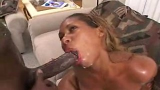 Black Brazilian couple having passionate sex