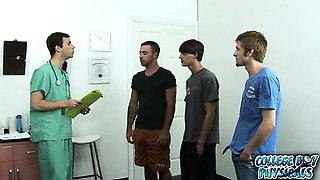 College boys decide to donate sperm and go to the sperm
