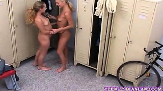 Hot lesbian getting licked her tight wet clit