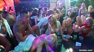 Dancing clubbers fucking at a bride's party