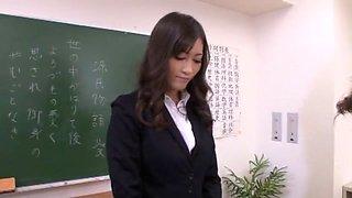 Horny Japanese girl Aoki Misora in Best Blonde, Footjob JAV movie