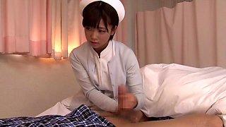 Horny Japanese whore in Amazing Nurse, Handjob JAV scene