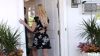Slutty milf Aaliyah Love is cheating her old husband with handsome stepson