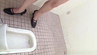 Asian Pisses In Toilet