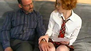 redhead school girl