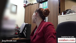 I&#39ve got a job. jeny smith gets naked at her new job. hidden cam prank