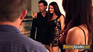 Gorgeous latin couple is desiring a full swap at swing party