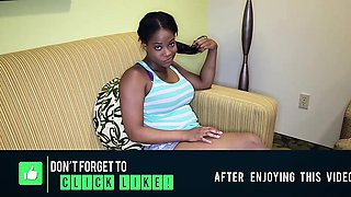 Cute young black chick with big juggs Monique Symone jerk