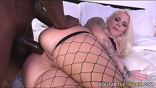 Lucky B Dallas Gets Anal Pounded By A BBC