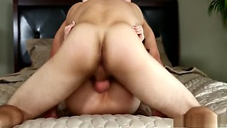 Sexy slender brunette invites a hung stud to fulfill her wild desires