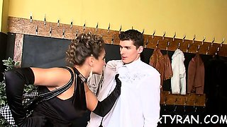 Female domination fetish with sexy playgirl getting licked
