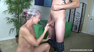 l fucking machine uses mature and rubs cock