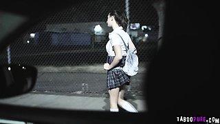 Rachel gives her stepfather her virgin teen ass