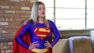 Superheroine Supergirl Battles and Defeats Two Villainess