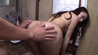 Natural boobs Kurea bend over seductively while smashed hardcore