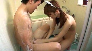 Exotic Japanese girl Chika Eiro in Horny Stockings, Maid JAV clip