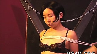 Sexy dominatrix enslaves another girl in hardcore bdsm style