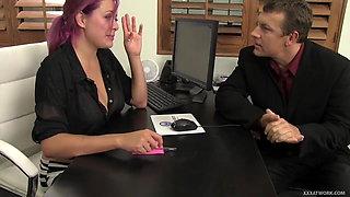 Emo Secretary Has Affair with Her Boss