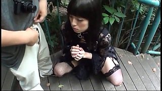 Japanese crossdress outdoors