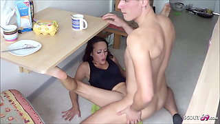 Rough Anal for Skinny German One Night Stand Teen In The Kitchen