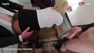 My Dirty Hobby - Secretary caught sucking off the intern
