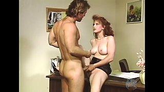Redhead secretary of the 80s