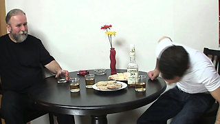 Mature couple and blonde teen Czech family sex