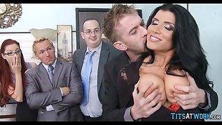 hot milf gets drilled on the job