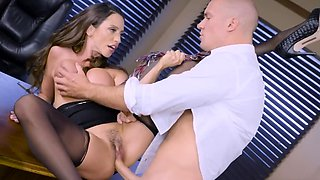 Big boobed secretary knows how to please her horny boss