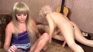 Extreme Sweetheart Copulates a Rubber Sheboy Doll