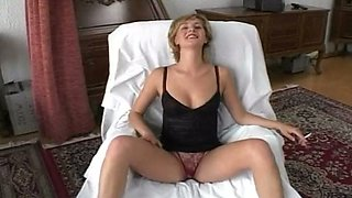 Prague slut smoking cigarette and sucking Rocco Siffredi's cock